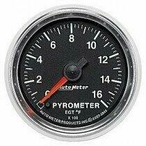 "Auto Meter GS Series 2 1/16"" 0-1600 deg. Pyrometer Gauge"