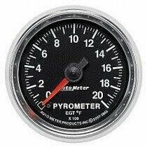 "Auto Meter GS Series 2 1/16"" 0-2000 deg. Pyrometer Gauge"