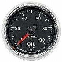 "Auto Meter GS Series 2 1/16"" 0-100psi Oil Pressure Gauge"