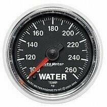 "Auto Meter GS Series 2 1/16"" 100-260 deg Water Temp. Gauge"