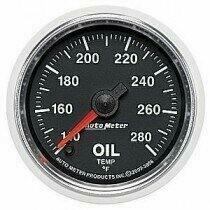 "Auto Meter GS Series 2 1/16"" -140 - 280 deg. Oil Temp. Gauge"