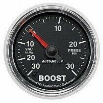 "Auto Meter GS Series 2 1/16"" -30/+30 Boost Gauge"