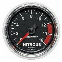 "Auto Meter GS Series 2 1/16"" 0-16psi Nitrous Pressure Gauge"
