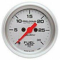 "Autometer Ultra-Lite Series 2 1/16"" 0-30 PSI Fuel Pressure Gauge"