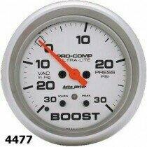 "Autometer Ultra-Lite Series 2 1/16"" -30/+30 Boost/Vacuum Gauge"