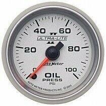 "Autometer Ultra-Lite II Series 2 1/16"" 0-100deg Oil Pressure"
