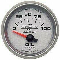 "Autometer Ultra-Lite II Series 2 1/16"" 0-100 psi Oil Pressure"