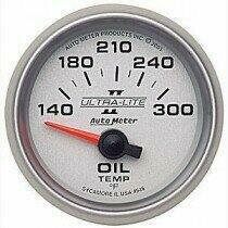 "Autometer Ultra-Lite II Series 2 1/16"" 140-300deg Oil Temp Gauge"