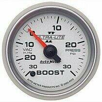 "Autometer Ultra-Lite II Series 2 1/16"" -30/+30 Boost/Vac Gauge"