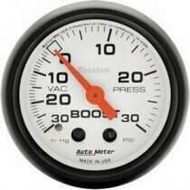 """Autometer Phantom II Series 2 1/16"""" 30-/+30 Psi Boost/Vac. Gauge"""