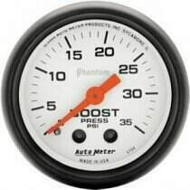 "Autometer Phantom II Series 2 1/16"" 0-35 PSI Boost Gauge"