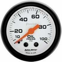 """Autometer Phantom II Series 2 1/16"""" 0-100 PSI Oil Pressure Gauge"""