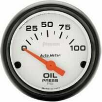 "Autometer Phantom Series 2 1/16"" 0-100 PSI Oil Pressure Gauge"