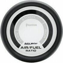 "Autometer Phantom Series 2 1/16"" Lean-Rich Air/Fuel Ratio Gauge"