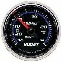 Autometer Cobalt Series 2-1/16 Mechanical -30/+30Psi Boost Gauge