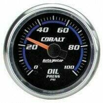 Autometer Cobalt Series Electric 0-100 PSI Oil Pressure Gauge