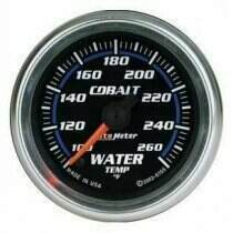 "Autometer Cobalt Series 2-1/16"" Electric Water Temperature Gauge"