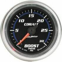"Autometer Cobalt Series 2 1/16"" Electric 0-30 PSI Boost Gauge"