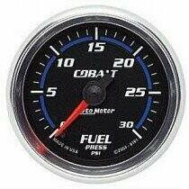 "Autometer Cobalt Series 2 1/16"" 0-30 PSI Fuel Pressure Gauge"