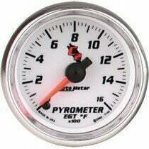 "Autometer C2 Series 2 1/16"" Electric Pyrometer Gauge"
