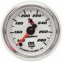 "Autometer C2 Series 2 1/16"" Electric Oil Temperature Gauge"