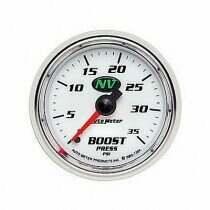 "Autometer NV Series 2 1/16"" 0-35 PSI Mechanical Boost Gauge"
