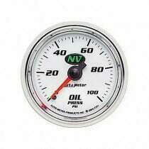 Autometer NV Series 0-100 Psi Mechanical Oil Pressure Gauge
