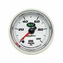 Autometer NV Series Electric 0-100 Psi Oil Pressure Gauge