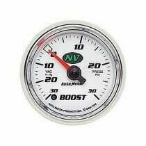 Autometer NV Series 30 In. Hg/30 Psi Boost/Vacuum Gauge