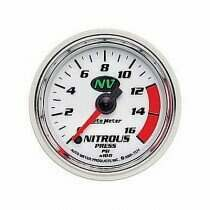 Autometer NV Series Electric 0-1600 Psi Nitrous Pressure Gauge