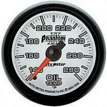 "Autometer Phantom II Series 2 1/16"" 140-280 deg. Oil Temp Gauge"