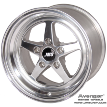 JMS 94-04 Mustang 15x10 Avenger Style Wheel (Polished)