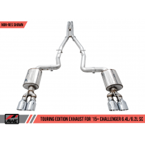 AWE 3015-11052 AWE Touring Edition Exhaust - Resonated Midpipe (2015-2020 Dodge Challenger 6.4L / 6.2L SC)