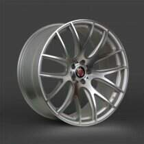Lenso 05-2014 Mustang 22x9.5 Axe CS Lite Wheel (Silver / Brushed Face)