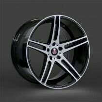 Lenso 05-2014 Mustang 20x9 Axe EX12 Wheel (Gloss Black / White Face)