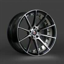 Lenso 05-2014 Mustang 20x8.5 Axe EX16 Wheel (Gloss Black / Polished)