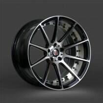 Lenso 05-2014 Mustang 20x8.5 Axe EX16 Wheel (Gloss Black / Polished)
