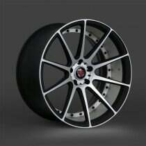 Lenso 05-2014 Mustang 19x8.5 Axe EX16 Wheel (Satin Black / Brushed)