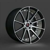 Lenso 05-2014 Mustang 19x9.5 Axe EX16 Wheel (Satin Black / Brushed)