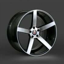 Lenso 05-2014 Mustang 22x10.5 Axe EX18 Wheel (Gloss Black / Brushed Face)