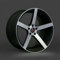Lenso 05-2014 Mustang 18x9 Axe EX18 Wheel (Gloss Black / Machined Face)