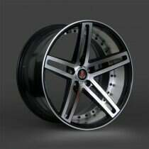 Lenso 05-2014 Mustang 20x10 Axe EX20 Wheel (Gloss Black / Polished)