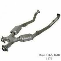 BBK 2.5 Full X-Pipe W/Converters (1994-1995 Mustang 5.0L) - 1663