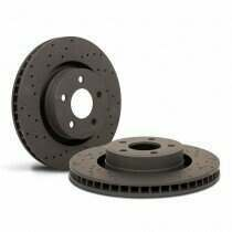 Hawk Performance HTC4050 Talon Cross-Drilled and Slotted Rotors - Front Pair (2005-2010 V6 Mustang)