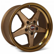 Race Star RSI-92-850145BZ* 92 Drag Star Bracket Racer Bronze  18x5 5x4.50BC 2.00BS (2011-2014 Mustang GT / 2012-2013 Boss 302 / 2013 & 2014 GT500 & 2015+ GT w/ Standard or Upgraded Brake Pkg)