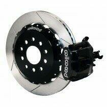 "Wilwood 140-10159 2005-2014 Mustang 12.88"" Combination Parking Brake Caliper Rear Brake Kit - Slotted Rotors"