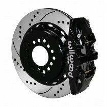 "Wilwood 140-10950-D 2005-2014 Mustang 14"" AERO4 Rear Big Brake Kit w/Parking Brake - Drilled & Slotted"