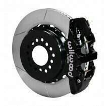 "Wilwood 140-10950 2005-2014 Mustang 14"" AERO4 Rear Big Brake Kit w/Parking Brake - Slotted"