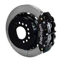 "Wilwood 140-9221 2005-2014 Mustang 12.88"" Forged Narrow Superlite 4R Rear Big Brake Kit with Parking Brake - Slotted Rotors"
