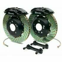Brembo 94-04 Mustang Gran Turismo Front 355mm Brake Kit w/ 2pc Drilled Rotors and 4 Piston Calipers